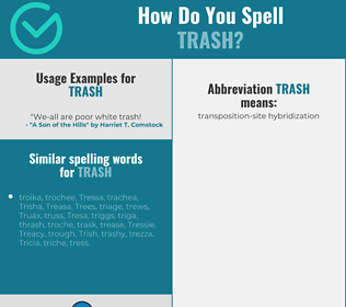 Correct spelling for trash