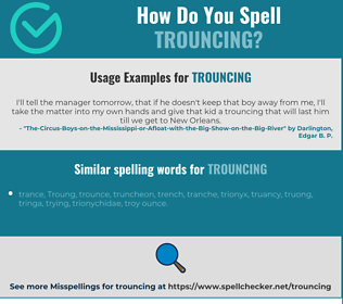 Correct spelling for trouncing