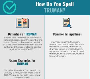 Correct spelling for truman