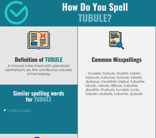 Correct spelling for tubule
