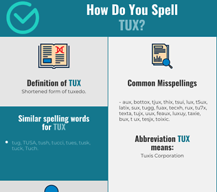 Correct spelling for tux