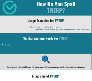 Correct spelling for twerp