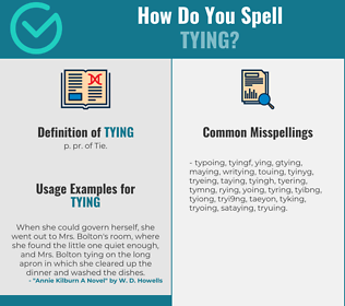 Correct spelling for tying