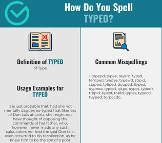 Correct spelling for typed