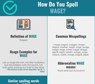 Correct spelling for wage
