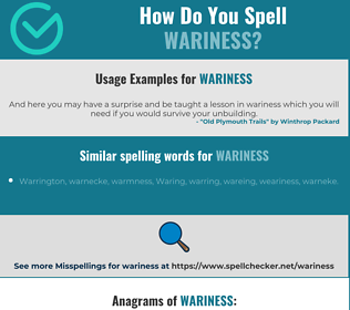 Correct spelling for wariness