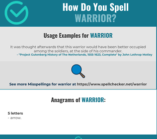 Correct spelling for warrior