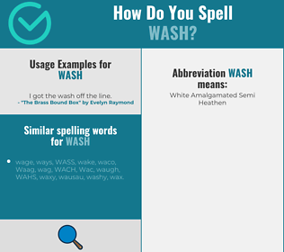 Correct spelling for wash