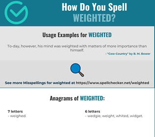 Correct spelling for weighted