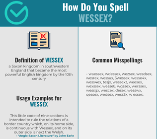 Correct spelling for wessex
