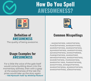 Correct spelling for Awesomeness