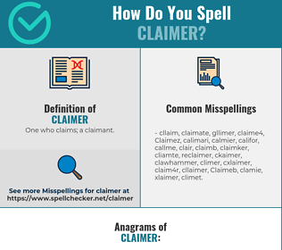 Correct spelling for Claimer
