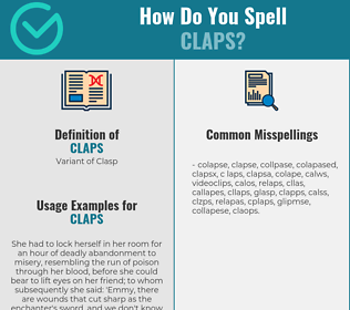 Correct spelling for Claps