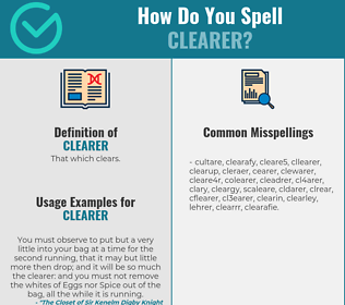 Correct spelling for Clearer