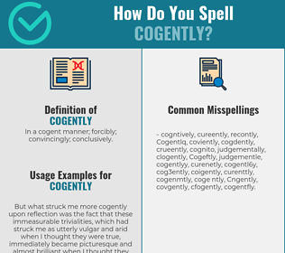 Correct spelling for Cogently