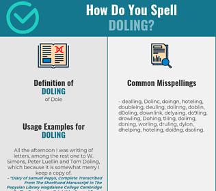 Correct spelling for Doling