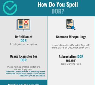 Correct spelling for Dor