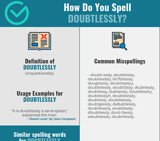 Correct spelling for Doubtlessly