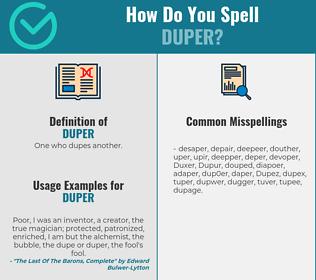 Correct spelling for Duper