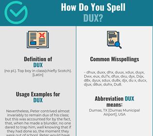 Correct spelling for Dux