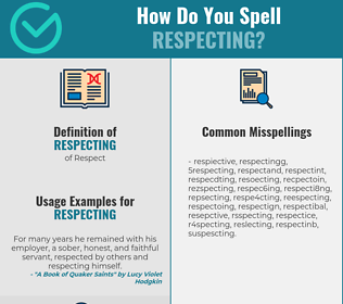 Correct spelling for Respecting