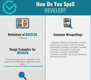 Correct spelling for Reveled
