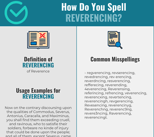 Correct spelling for Reverencing