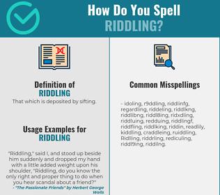 Correct spelling for Riddling