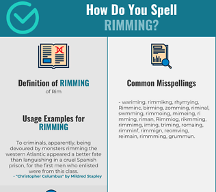 Correct spelling for Rimming