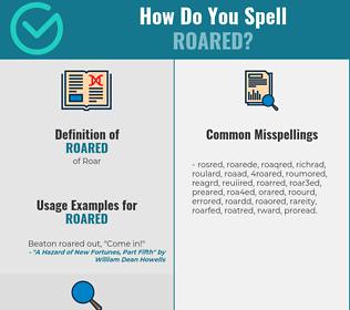 Correct spelling for Roared