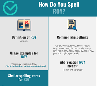 Correct spelling for Roy