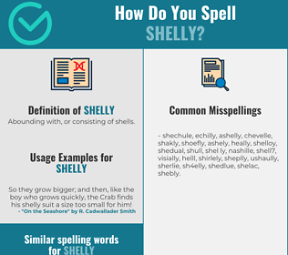 Correct spelling for Shelly