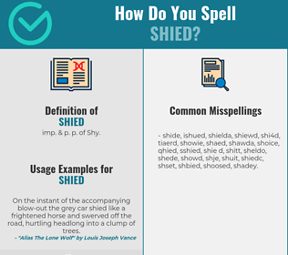Correct spelling for Shied