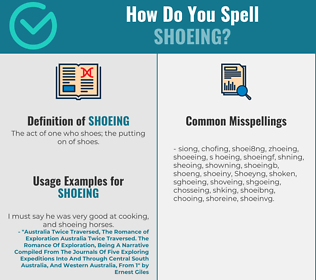 Correct spelling for Shoeing