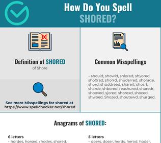 Correct spelling for Shored