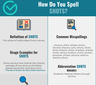 Correct spelling for Shots