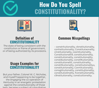 Correct spelling for Constitutionality