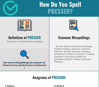 Correct spelling for Presser