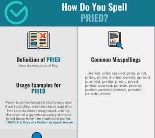 Correct spelling for Pried