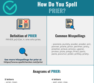 Correct spelling for Prier