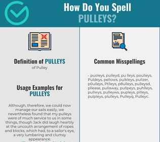Correct spelling for Pulleys