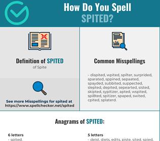 Correct spelling for Spited