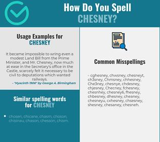 Correct spelling for Chesney