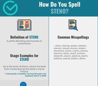 Correct spelling for Steno