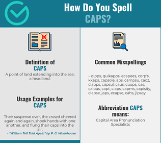Correct spelling for caps