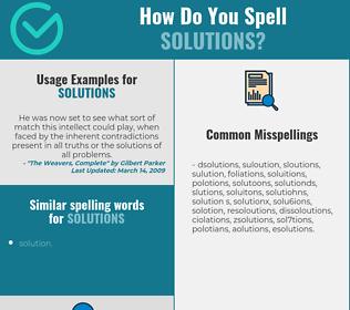 Correct spelling for solutions