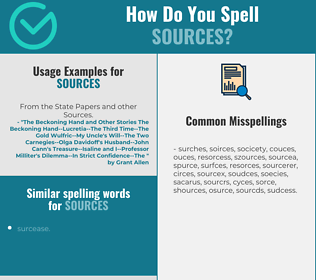 Correct spelling for sources