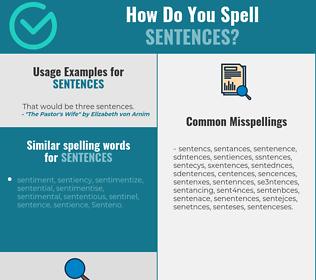 Correct spelling for sentences