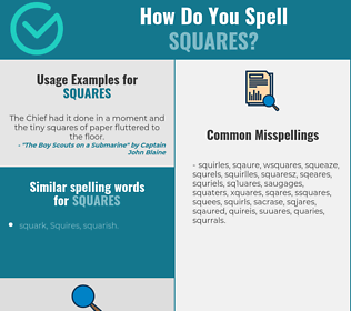 Correct spelling for squares