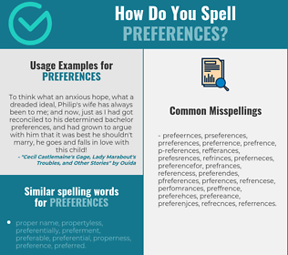 Correct spelling for preferences